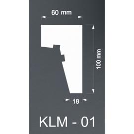 Taklist Frigolit KLM01